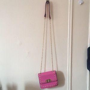 Valentino Style Pink Crossbody Bag
